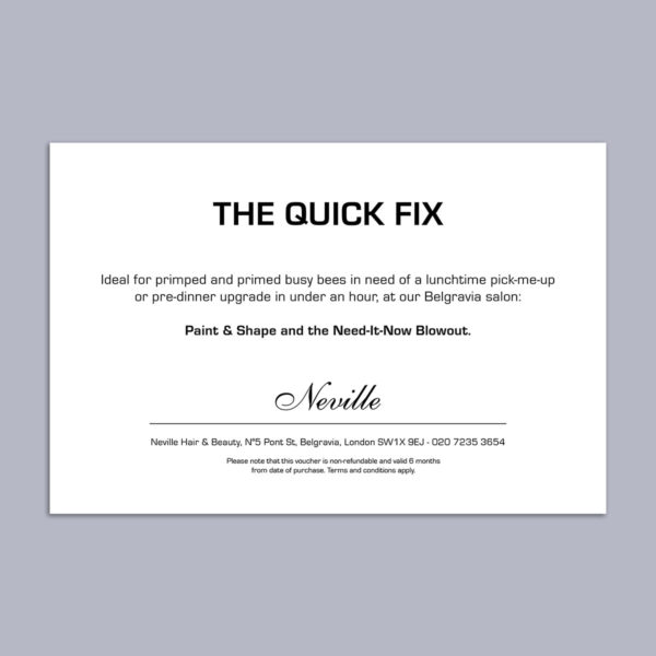 The Quick Fix Voucher