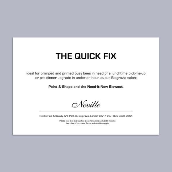 The Quick Fix Voucher