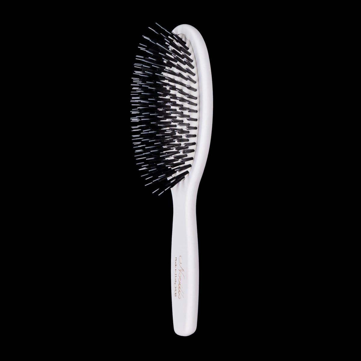 Neville Bristle Hair Brush in White