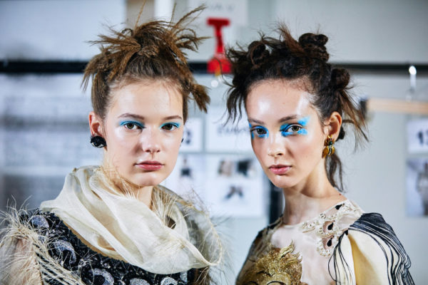 Neville create hair look for Guo Pei show for Fashion In Motion at the V&A,