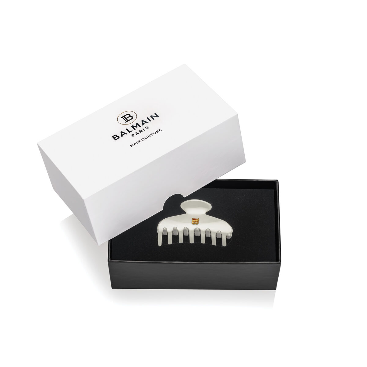 Balmain Pince à cheveux Small White in Box