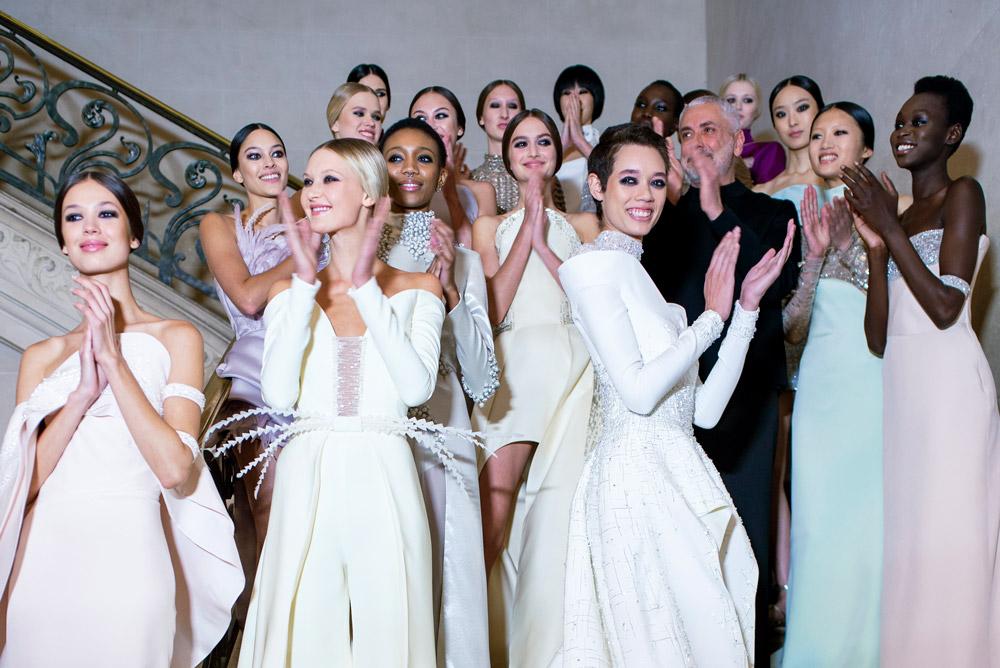Neville Salon create the hair Look for Antonio Grimaldi using Davines