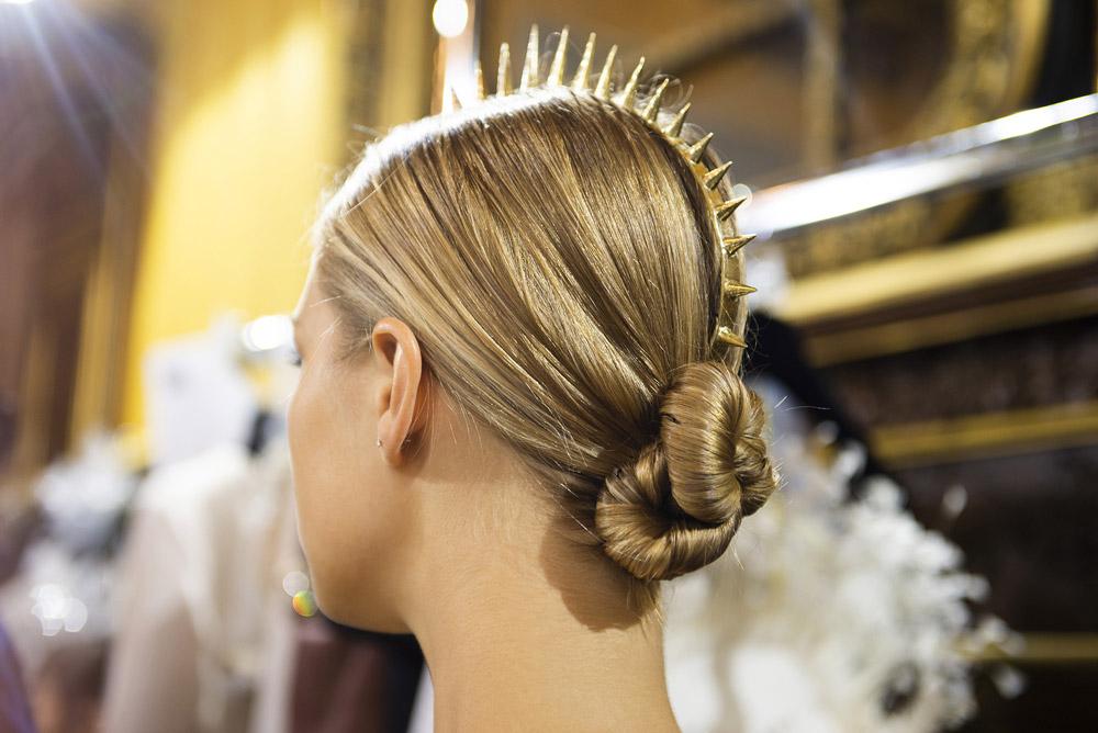 Neville Salon create the hair Look for Antonio Grimaldi AW18