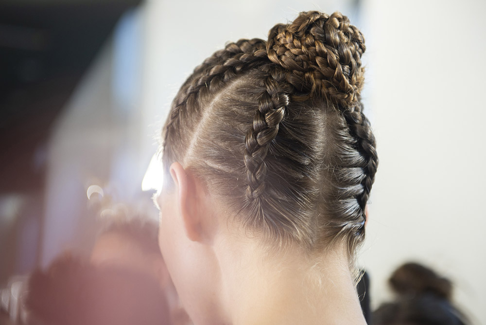 Neville Salon create the hair Look for Guo Pei AW18