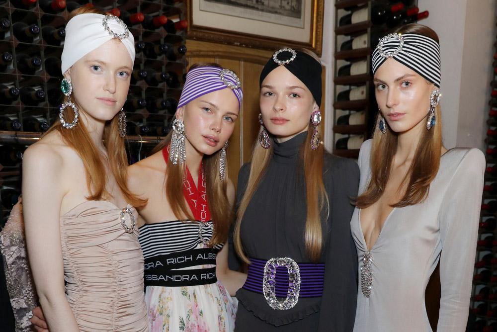 Neville Salon create the hair Look for Alessandra Rich