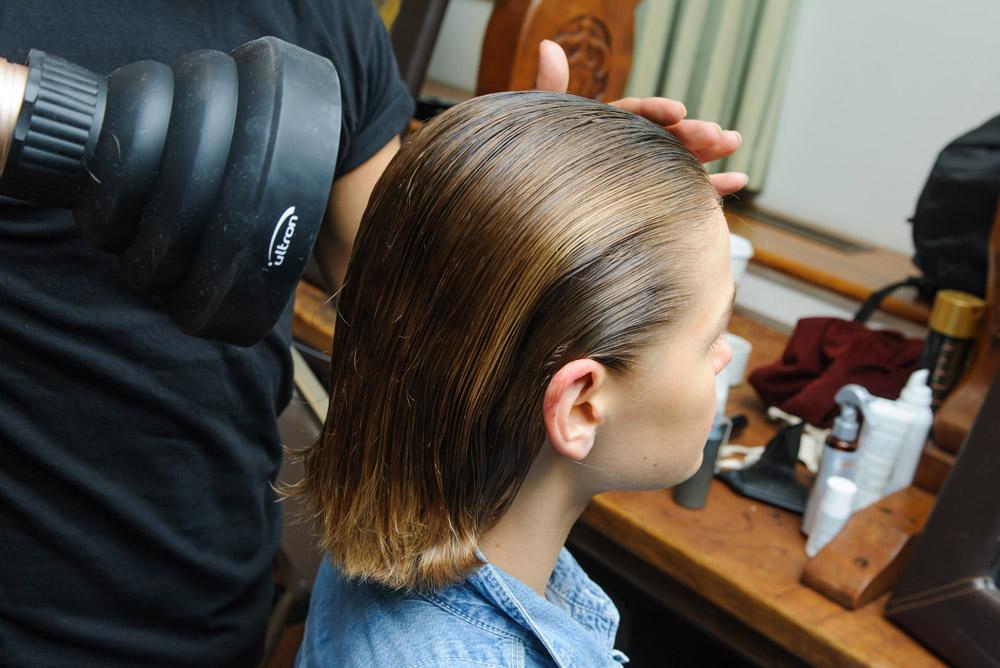 Neville Salon create the hair Look for Palmer Harding SS19