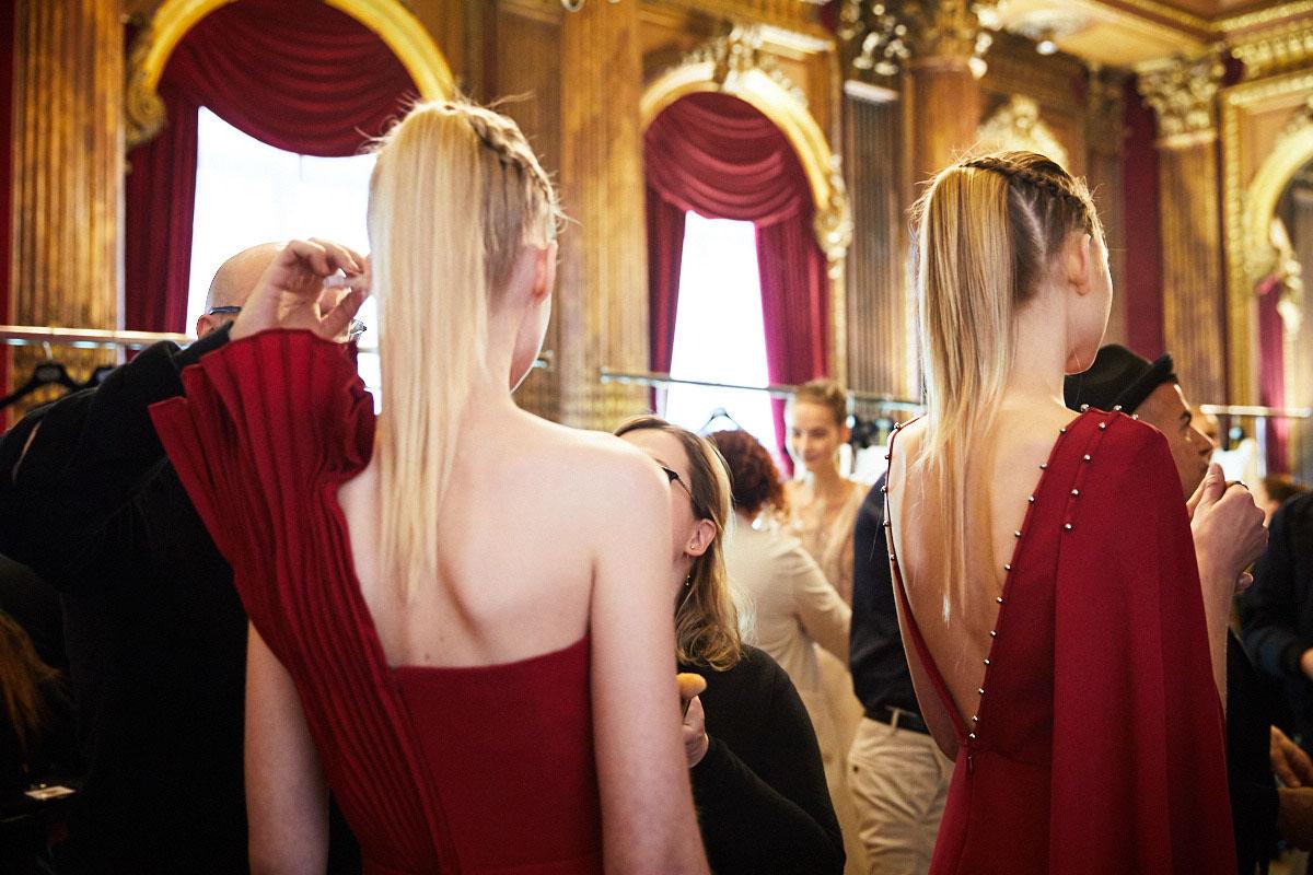 Neville Salon create the hair Look for Antonio Grimaldi SS17